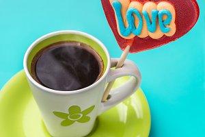 """Sweet """"Heart"""" and coffee."""