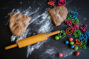Easter baking preparation