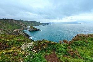 Atlantic Ocean coastline, Spain.