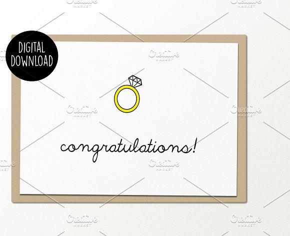 Engagement Congrats Wedding Card