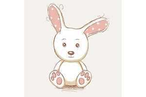 Cute toy rabbit