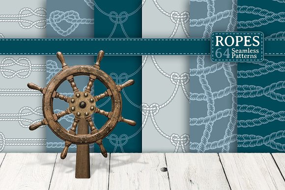 Ropes 64 Seamless Patterns