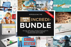 INCREDIBUNDLE Graphics, Templates...