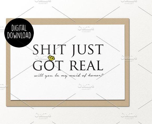 Maid Of Honor Wedding Printable Card
