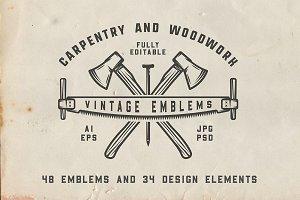 Vintage Carpentry Emblems part 3