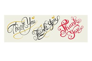 Thank You, lettering design