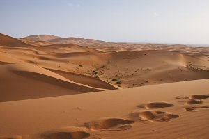View of sand dunes background