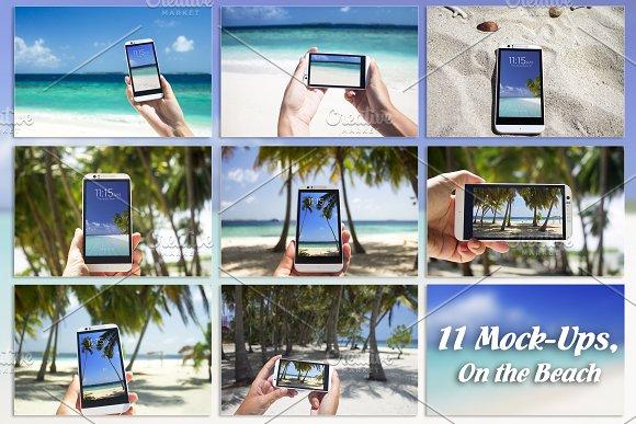Bundle Smartphone 11 Mock Up Beach