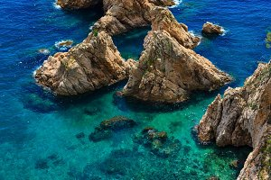 Summer Mediterranean sea, Spain