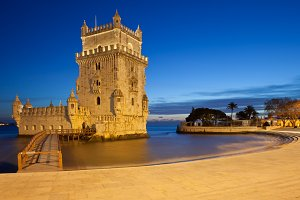 Belem Tower at Night in Lisbon