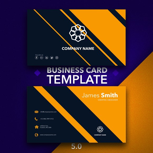 Business Card Template 5.0