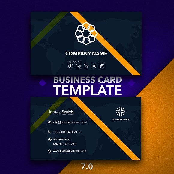 Business Card Template 7.0