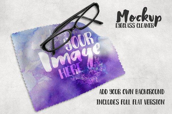 Eyeglass Cleaner Lens Cloth Mockup