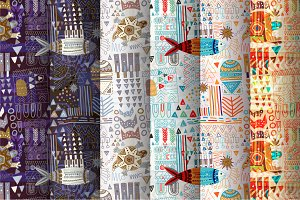 Set of 6 Abstract Patterns