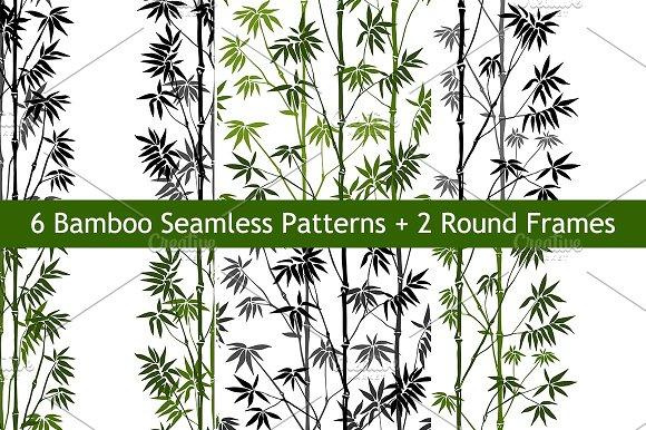 Bamboo Seamless Patterns