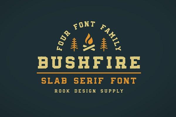 Bushfire - 4 Font Family