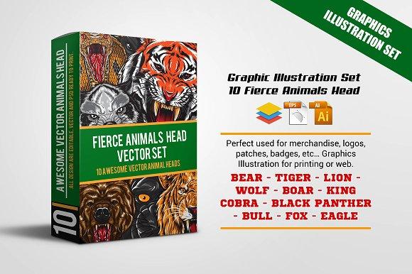Fierce Animals Head Set