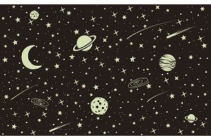 Vintage space background