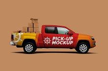 Pick-Up Truck Mockup