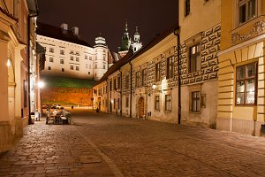 Wawel Castle at Night in Krakow
