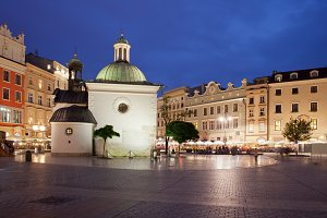 Old Town of Krakow at Night