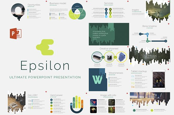 epsilon powerpoint template presentation templates creative market