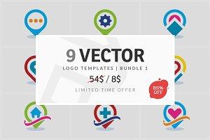 9 Vector Logo Elements - Bundle 01