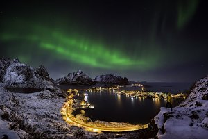 Looking at the northern lights