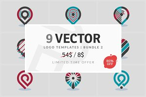 9 Vector Logo Elements - Bundle 02