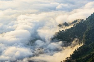 Valley cloud and fog