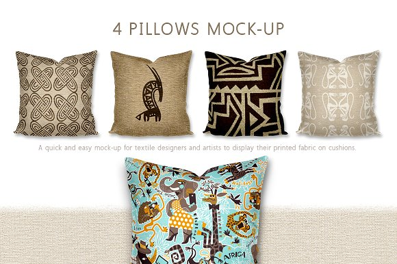 Download Multiple Pillow/Cushion 4 in a row