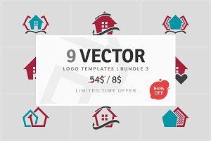 9 Vector Logo Elements - Bundle 03