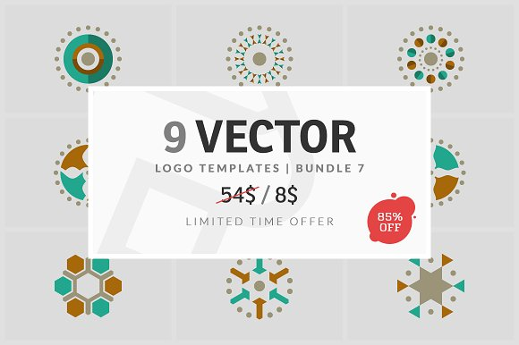 9 Vector Logo Elements Bundle 07
