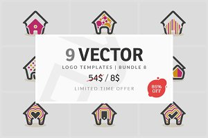 9 Vector Logo Elements - Bundle 08