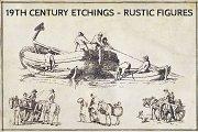 19th Century Etchings Rustic Figures