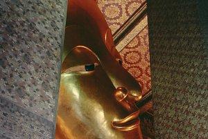 The Big golden Reclining Buddha