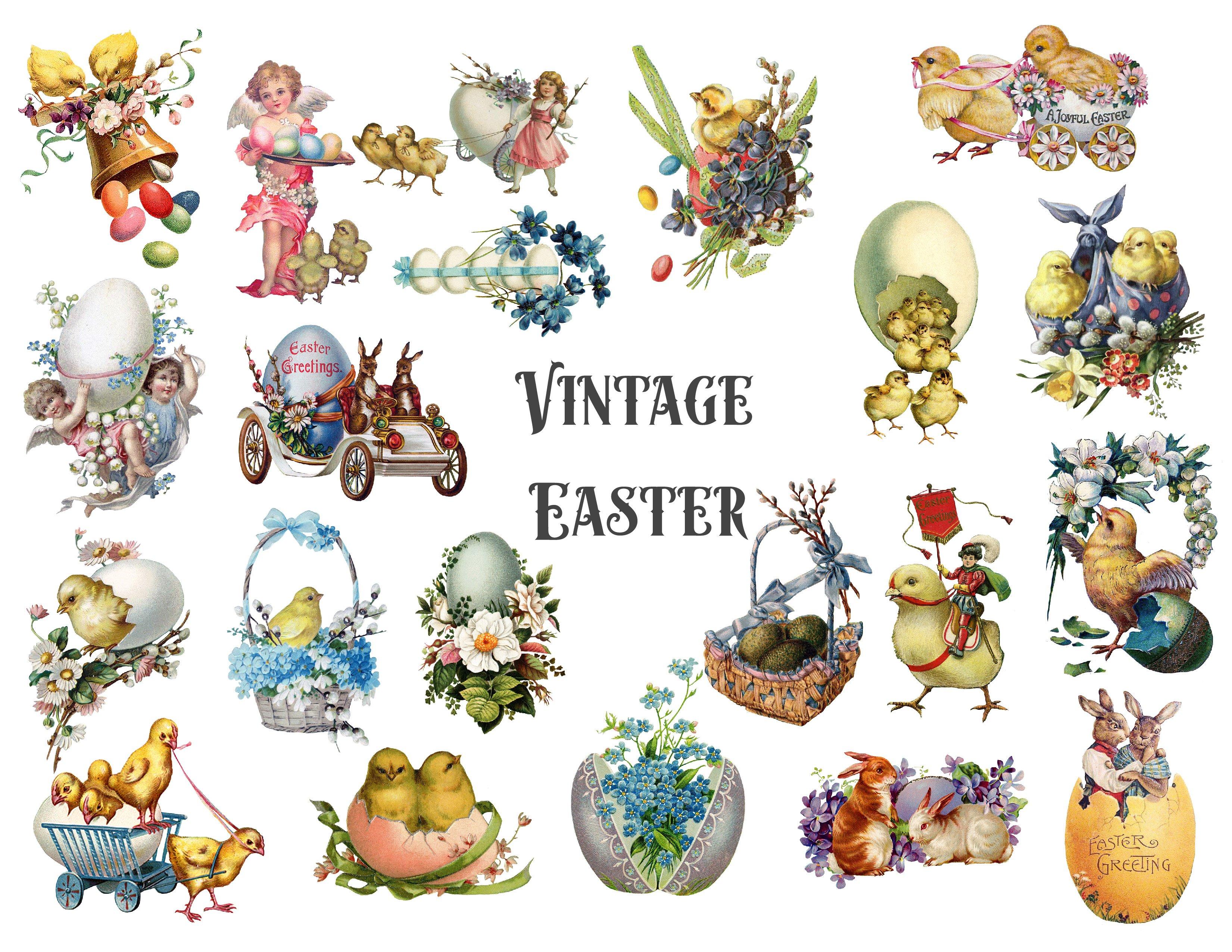 Vintage Easter Clipart ~ Illustrations ~ Creative Market