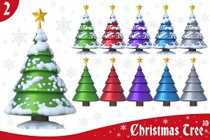 Christmas Tree 3D Set 2