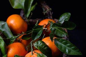 Tangerines, orange fruits