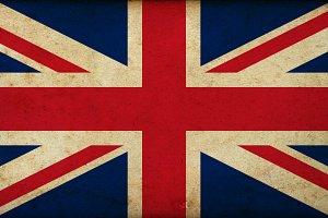 Grunge Great Britain flag