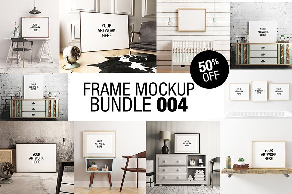 Frame Mockup Bundle 004 50% OFF