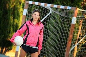 Coach with a soccer ball