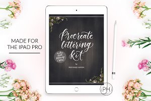 Procreate Chalkboard Lettering Kit
