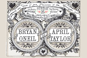 Vintage Wedding Banners & Labels