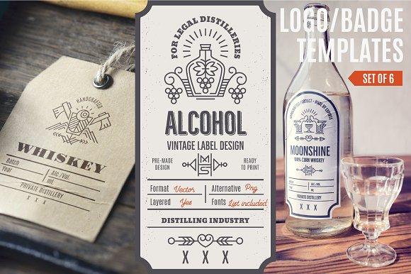 Distilling Industry Vintage Labels