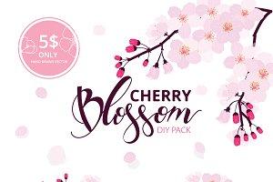 Set II -Cherry Blossom hand drawn