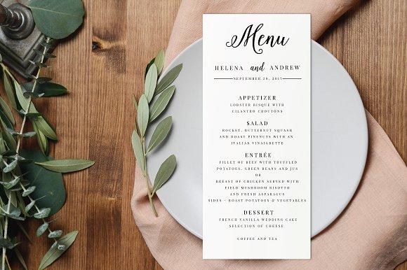 Wedding Menu Editable PDF