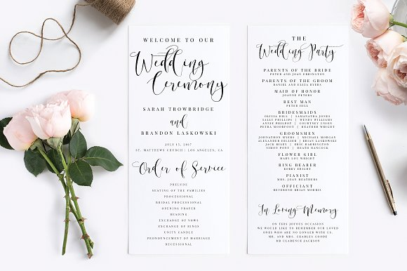 Wedding Program Editable PDF