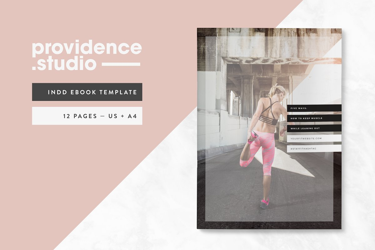 Fitness Modern Ebook Template Magazine Templates