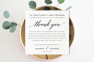 Reception Thank You - Editable PDF